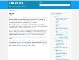 zelf-een-site-maken.nl screenshot