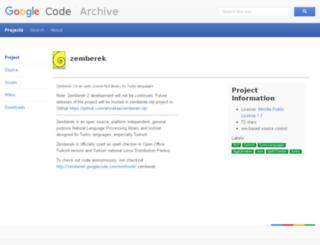zemberek.googlecode.com screenshot
