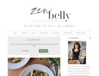 zenbellycatering.com screenshot