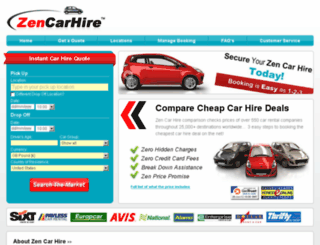 zencarhire.com screenshot