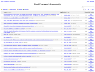 zend-framework-community.634137.n4.nabble.com screenshot