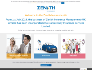 zenith-insurance.co.uk screenshot