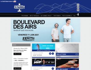 zenith-paris.com screenshot