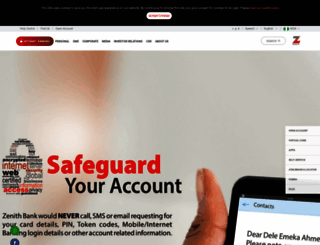 zenithbank.com screenshot