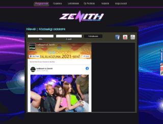 zenithclub.hu screenshot