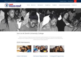 zenithcollegeghana.org screenshot