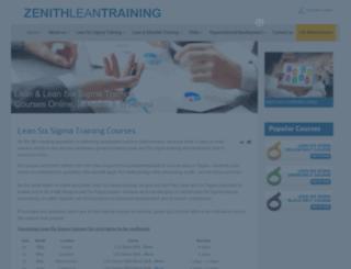 zenithleantraining.com screenshot
