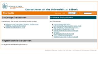 zensus.uni-luebeck.de screenshot