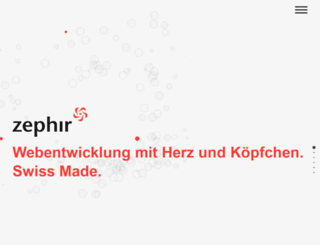 zephir.ch screenshot