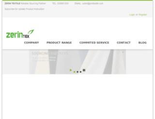 zerintextile.com screenshot