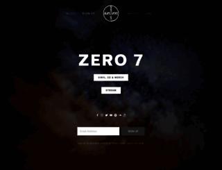 zero7.co.uk screenshot