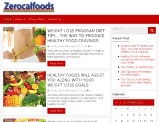 zerocalfoods.com screenshot