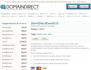 zerodiecieventi.it screenshot