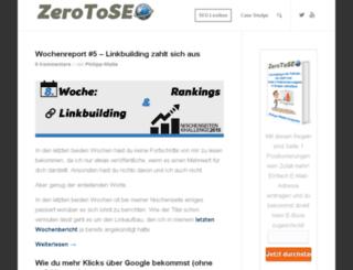 zerotoseo.net screenshot