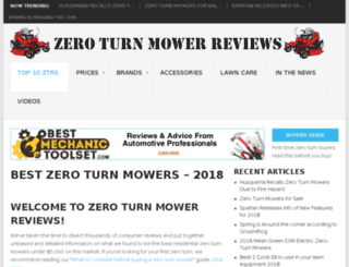 zeroturnmowerreviews.net screenshot