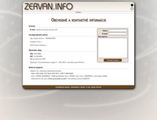 zervan.info screenshot