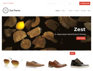 zest.lemonstand.com screenshot