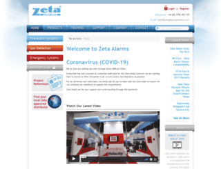 zetaalarmsystems.com screenshot