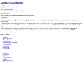 zeus.lunarpages.com screenshot
