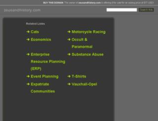 zeusandhistory.com screenshot