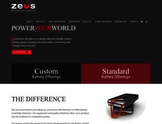 zeusbatteryproducts.com screenshot