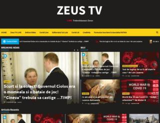 zeustv.ro screenshot