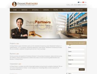 zhangpartners.com.au screenshot