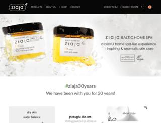 ziaja.co.uk screenshot