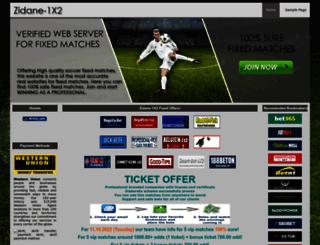 zidane-1x2.com screenshot