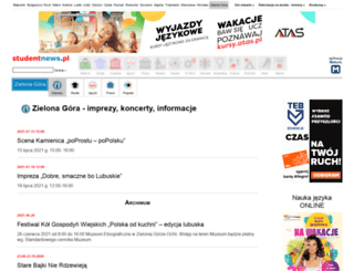 zielonagora.studentnews.pl screenshot