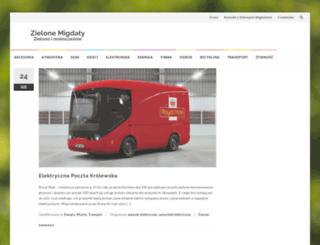 zielonemigdaly.pl screenshot