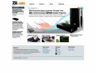 ziilabs.com screenshot
