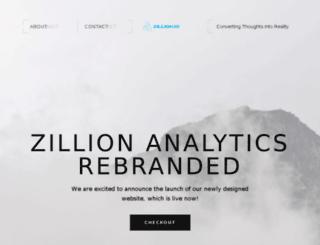 zillionanalytics.com screenshot