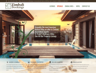 zimbalibookings.co.za screenshot