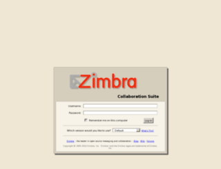 zimbra.blurb.com screenshot