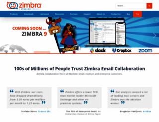 zimbra.com screenshot