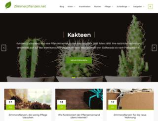 zimmerpflanzen.net screenshot