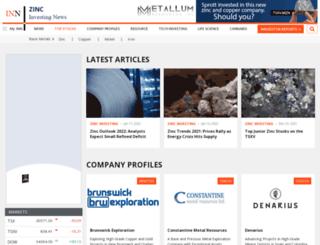 zincinvestingnews.com screenshot