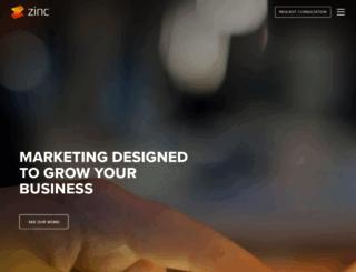 zincsolutions.com screenshot