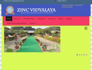 zincvidyalaya.org screenshot