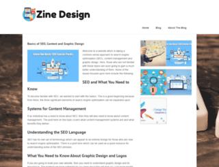 zinedesign.co.uk screenshot