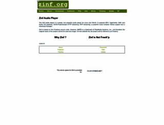 zinf.org screenshot