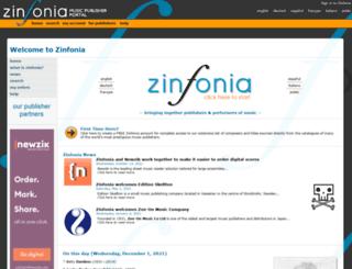 zinfonia.com screenshot