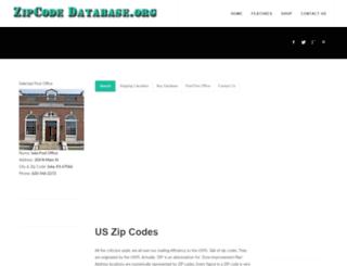 zip-code-database.org screenshot