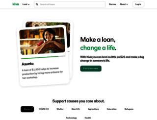 zip.kiva.org screenshot