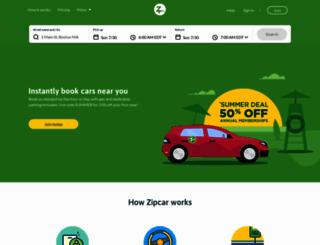 zipcar.com screenshot