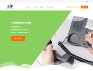 zipconferencing.com screenshot