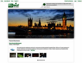 zipleaf.co.uk screenshot