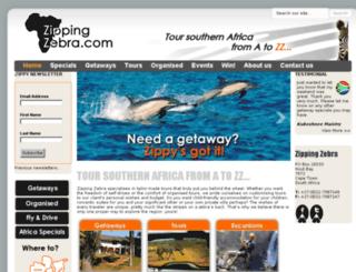 zippingzebra.com screenshot