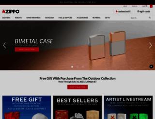 zippo.com screenshot